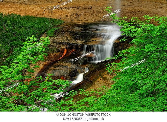 Munising Falls in spring, Munising, , USA