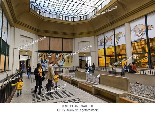 HOUSE OF WILD ANIMALS, MENAGERIE IN THE JARDIN DES PLANTES, 5TH ARRONDISSEMENT, PARIS (75), ILE-DE-FRANCE, FRANCE