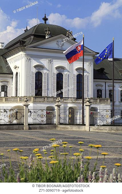 Slovakia, Bratislava, Grassalkovich Palace, Presidential Palace,