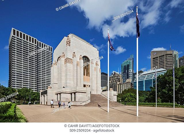 The ANZAC Memorial designed by Bruce Dellit, located in Hyde Park, Sydney, New South Wales, Australia