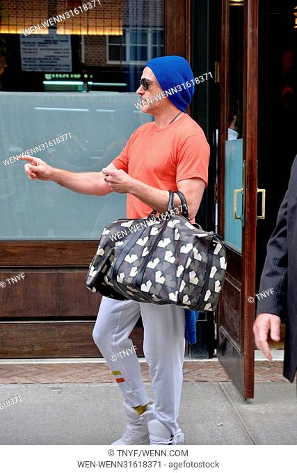 Robert Downey Jr. leaving his hotel in New York Featuring: Robert Downey Jr. Where: Manhattan, New York, United States When: 30 May 2017 Credit: TNYF/WENN