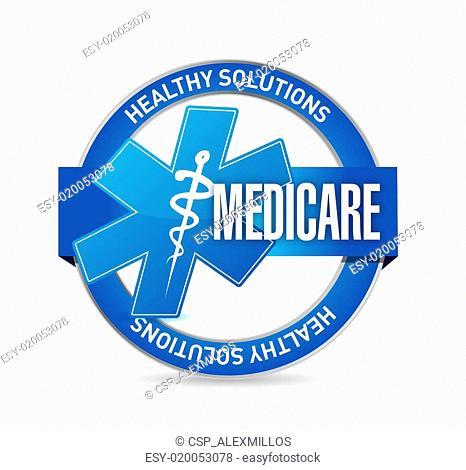 Medicare seal sign illustration design