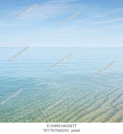 Seascape with transparent water at Cape Cod