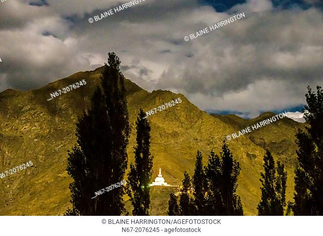 Shanti Stupa, Leh, Ladakh; Jammu and Kashmir state, India