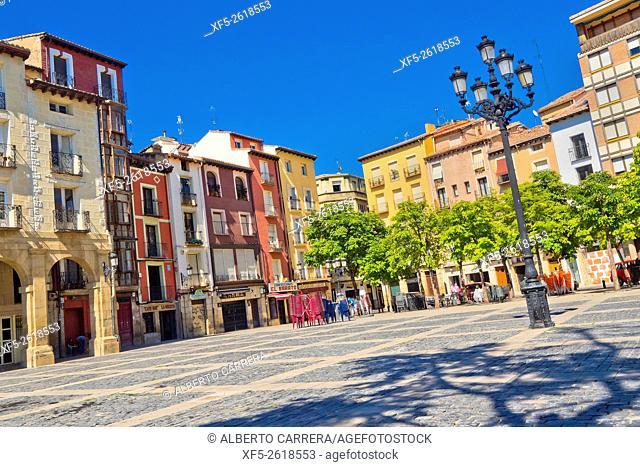 Market Square, Plaza del Mercado, Typical Architecture, Street Scene, Logroño, La Rioja, Spain, Europe
