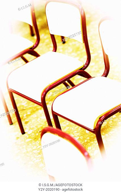 Children chairs at class