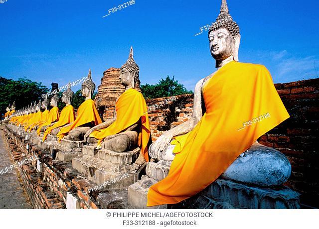Wat Yai Chai Mongkon, Phra Nakhon Si Ayutthaya Historical Park. Thailand