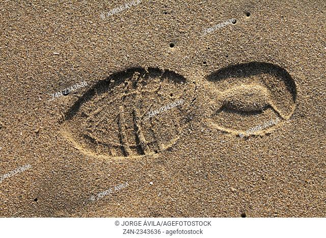 Shoeprint on sand