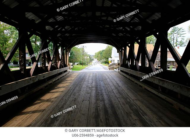 The Mechanic Street Covered Bridge, Lancaster, New Hampshire, USA