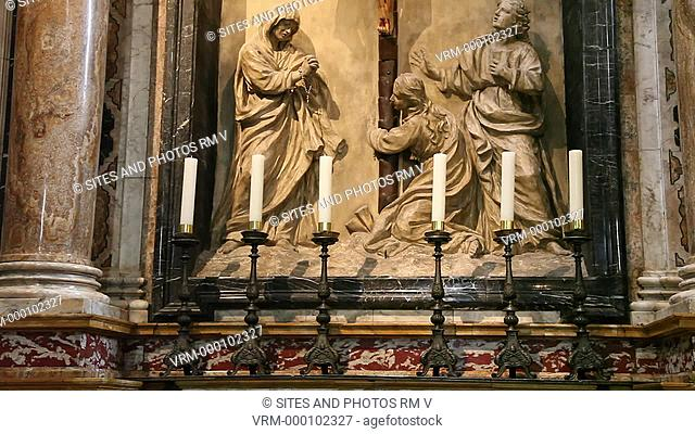 Siena Cathedral of the Most Holy Mary of Assumption Santa Maria Assunta Duomo di Siena, Northwestern Transept, Crucifixion Altar. Siena, Italy