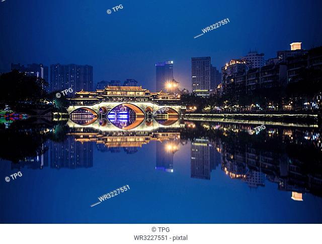 Night corridor bridge;China