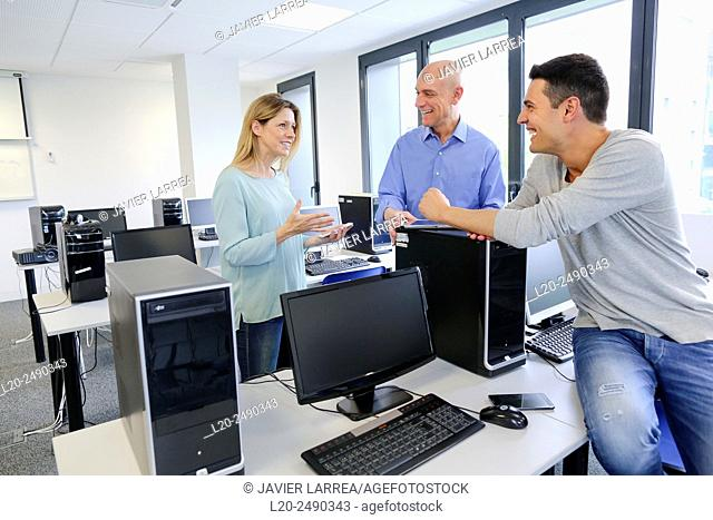Group of teachers. Computer Academy
