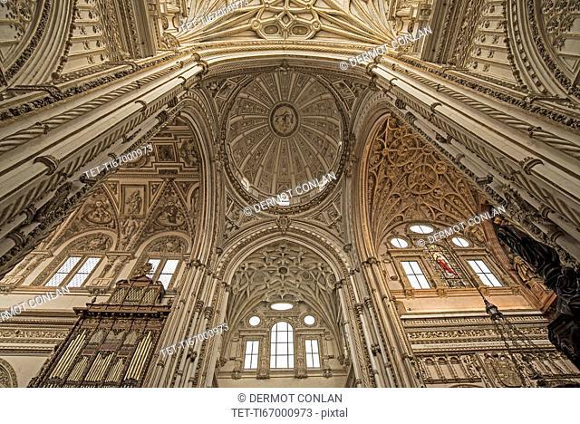 Spain, Andalusia, Cordoba, Interior of Great Mosque of Córdoba