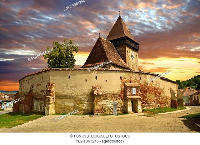 The Gothic 14th Century Axente Sever Saxon Evangelical Fortified Church, Sibiu, Transylvania