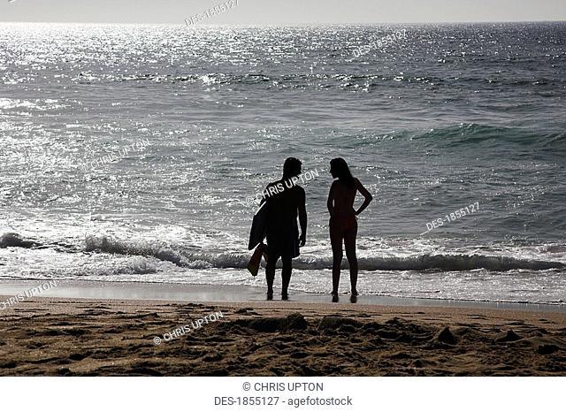Surfers, Guincho Beach, Portugal