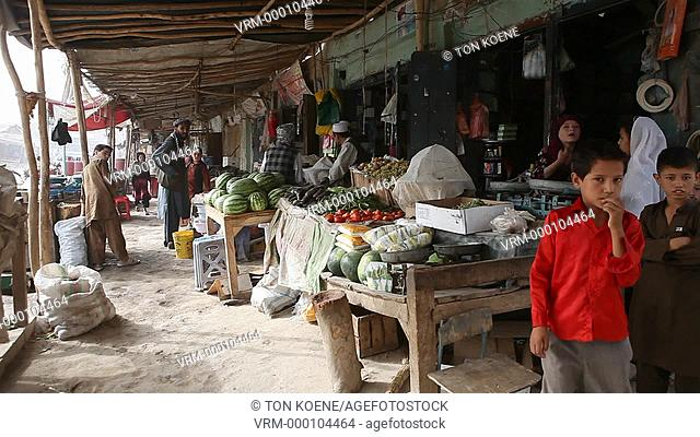 Daily life on the streets in Kunduz, Afghanistan