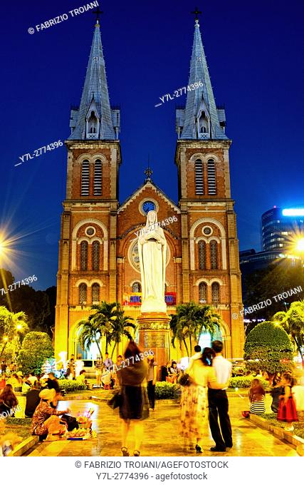 Cathedral Basilica of Our Lady of The Immaculate Conception, Ho Chi Minh City, Vietnam