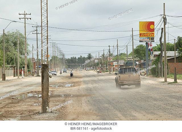 Main street, Loma Plata, Chaco, Paraguay