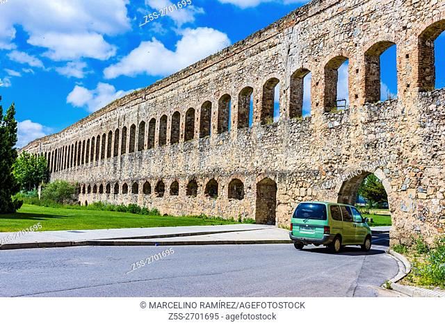 San Lazaro Aqueduct. Mérida, Badajoz, Extremadura, Spain, Europe