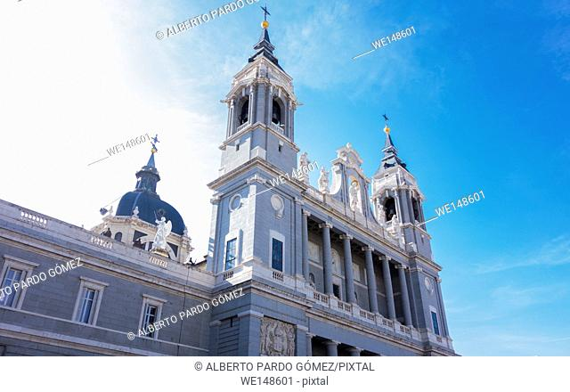 Almudena Cathedral in Madrid. Spain