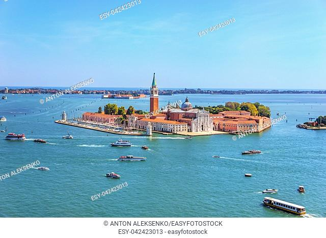 San Giorgio Maggiore Island, Venetian Lagoon, Venice Italy