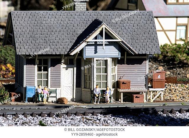 Rocky Cove Railroad Exhibit - North Carolina Arboretum, Asheville, North Carolina, USA