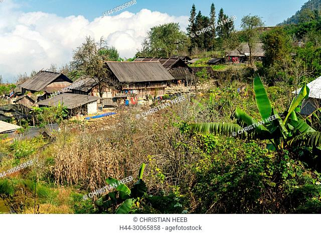 Asia, Asien, Southeast Asia, Vietnam, Northern, Hoang Lien Son Mountains, Sa Pa, Hill tribe house