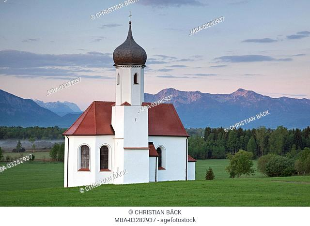 Saint Johannisrain in Penzberg, Upper Bavaria, Bavaria, Germany