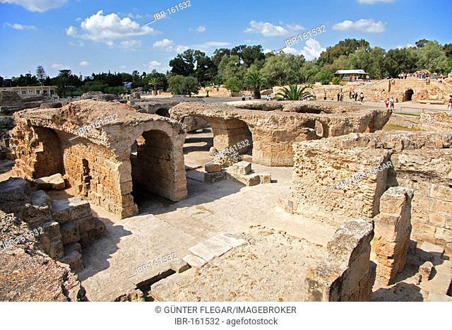 Ruins of Carthage, (Antoninus-Pius-Thermen), Carthage, Tunisia