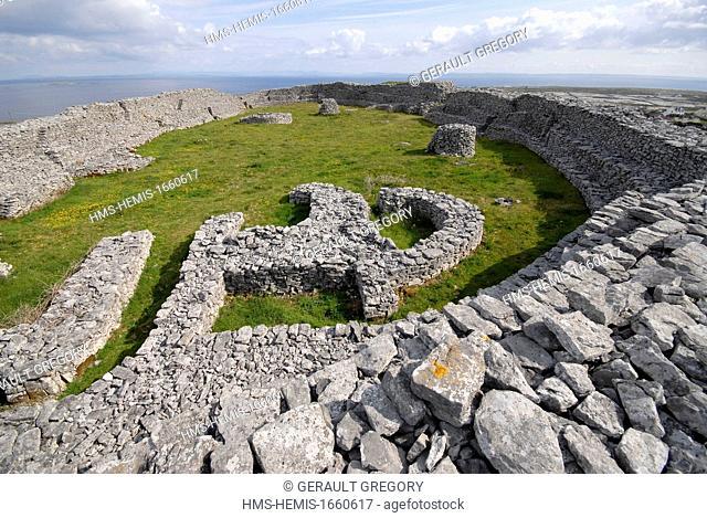 Ireland, County Galway, Aran Islands, Inishmaan, Dun Chonchuir