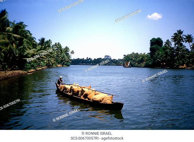 Kerala boat traffic India