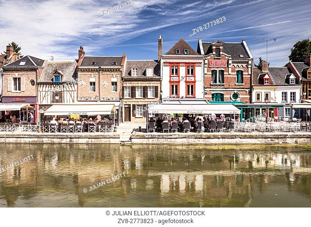 Shops and houses in the Saint Leu district of Amiens