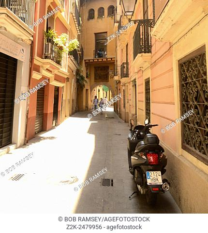 Street view in Valencia city, Spain