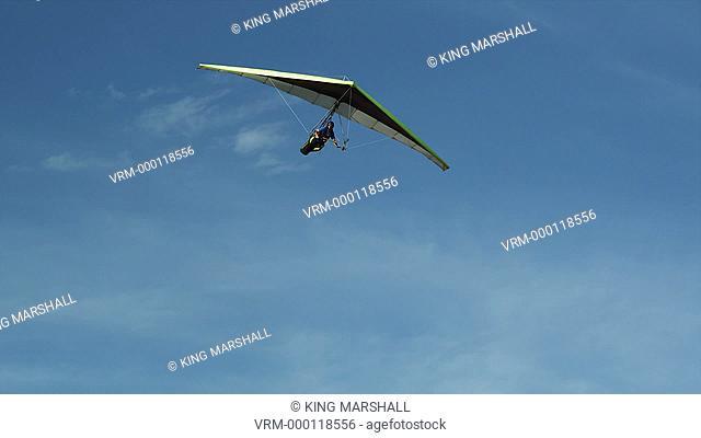 WS PAN POV Person hang gliding / Lehi, Utah, USA