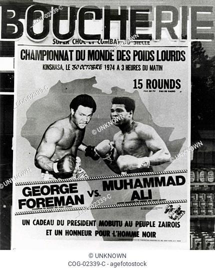 Poster advertising the Ali-Foreman, Kinshasa, Zaire