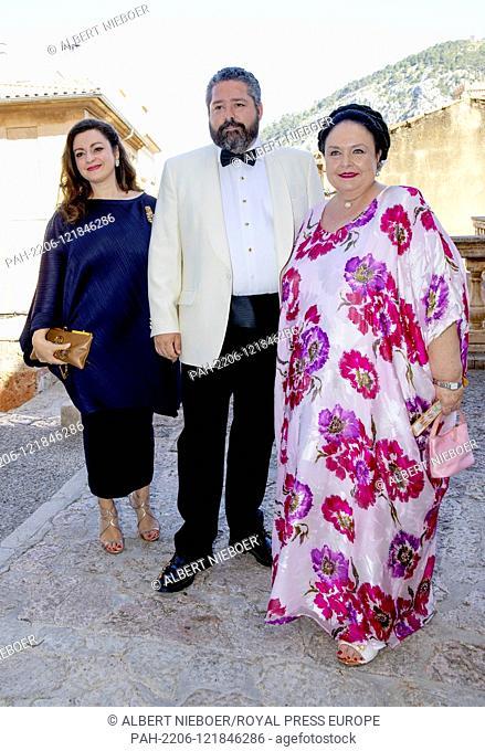 Grand Duchess Maria Vladimirovna of Russia.and Grand Duke Georgi of Russia and partner arrive at the Esglesias de Montes-Son in Pollensa, on June 29, 2019