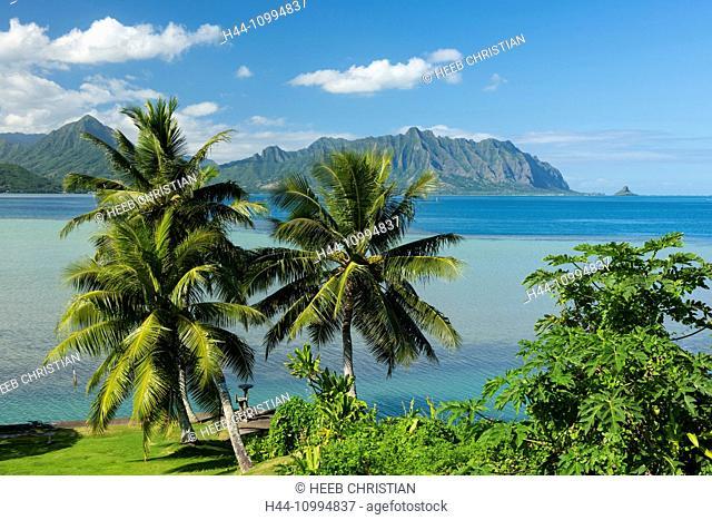 USA, Hawaii, Oahu, USA, Hawaii, Oahu, Kailua, Kane Ohe bay