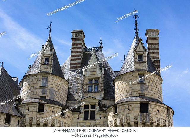 Close up of the beautiful Château d'Ussé in the Loire Valley, Indre-et-Loire, France, Europe