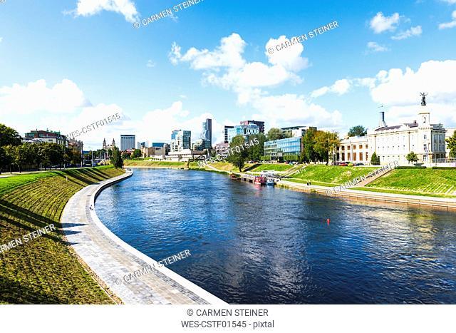 Lithuania, Vilnius, Neris river, Neustadt