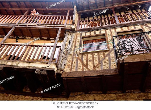 balcony San Martin del Castanar; Sierra de Francia Nature Reserve; Salamanca province; Castilla Leon; Spain