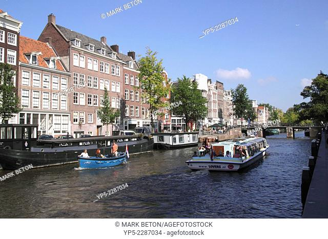 Prinsengracht Canal Amsterdam Holland