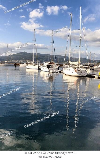 Sports harbor of Vigo, Pontevedra, Galicia, Spain, Europe