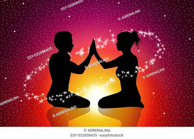 illustration of tantric love
