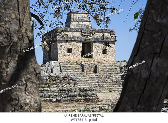 Temple of the Seven Dolls at Dzibilchaltun, Yucatan State, Mexico