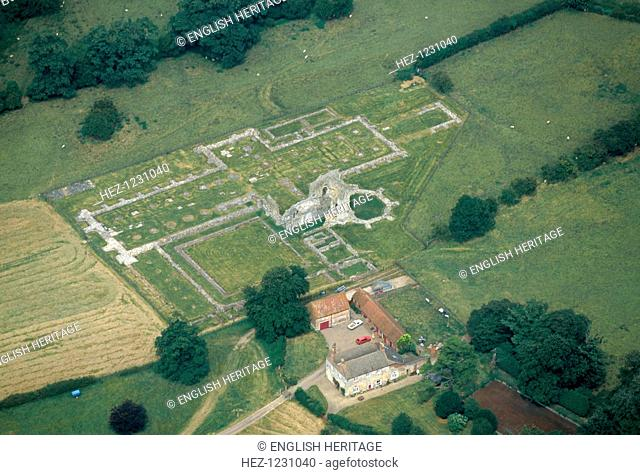 Thornton Abbey, Humberside, 1999. Aerial view of the remains of Thornton Abbey, Thornton Curtis, Humberside, dating from the early 12th century