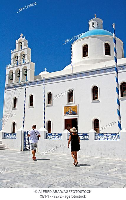 Panagia Platsani church, Oia, Santorini, Greece