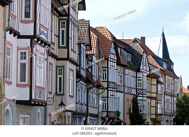 Timber framed houses, old town, Wernigerode, Harz, Saxony-Anhalt, Germany