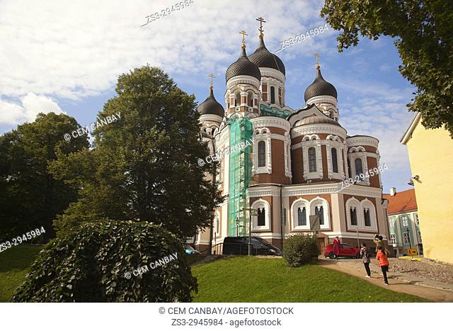 View to the Alexander Nevsky Cathedral on Toompea Hill, Tallinn, Estonia, Baltic States, Europe