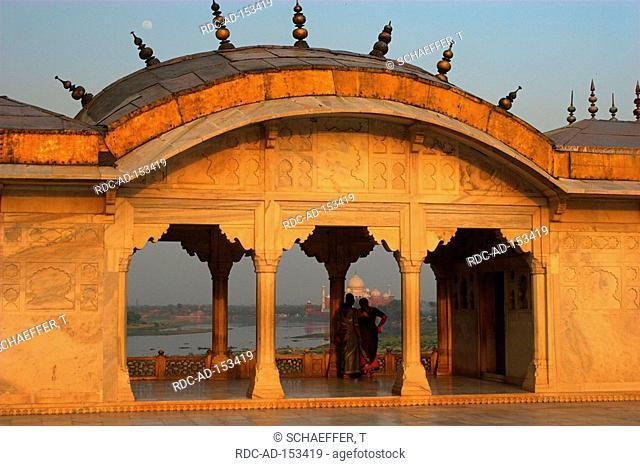 Red Fortress view on Taj Mahal New Delhi India New Dehli