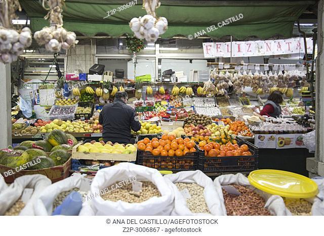 Bolhao municipal market in Porto, Portugal